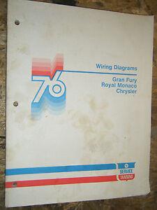 1976 DODGE MONACO PLYMOUTH FURY CHRYSLER NEWPORT FACTORY ...