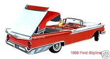 1959 Ford GALAXIE 500 SKYLINER, Red/White, Refrigerator Magnet,40 MIL