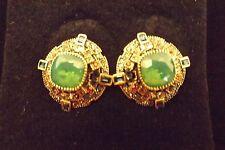 New Heidi Daus The Regent Clip On Earrings Green Stone Multi Color $99.95