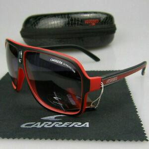 Men-Womens-Retro-Unisex-Sunglasses-Aviator-Matte-Black-Carrera-Glasses-LZ34