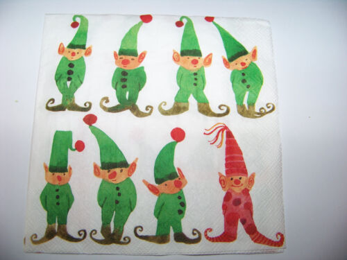 3  Servietten Weihnachten Little Elves kleine Elfen