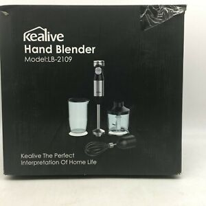 Kealive LB-2109 Powerful Portable Hand Blender With Chopping Bowl And Jar