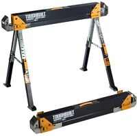 Folding Sawhorse Saw Tool 32 In. Work Horse Steel Portable Jobsite Table