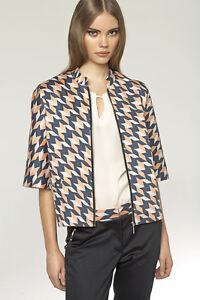 Veste-femme-de-tailleur-retro-chic-zippee-originale-NIFE-Z06-36-38-40-42-44