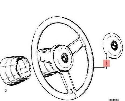 H3 Original BMW Lenkrad Blinker Abbrechen Hupe Schleifring E30 E28 E34 E24