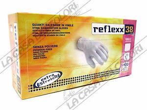 Caricamento dell immagine in corso REFLEXX-38-STRETCH-GUANTI-IN-VINILE-SENZA -POLVERE- 19eed28ae90d