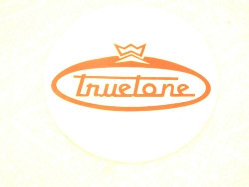 Truetone Style Circle Headstock Logo Vinyl Self Stick Black /& White Ships Free!