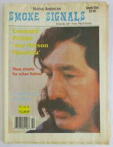Vintage-1993-LEONARD-PELTIER-Native-American-Smoke-Signals-Pine-Ridge-Shootout