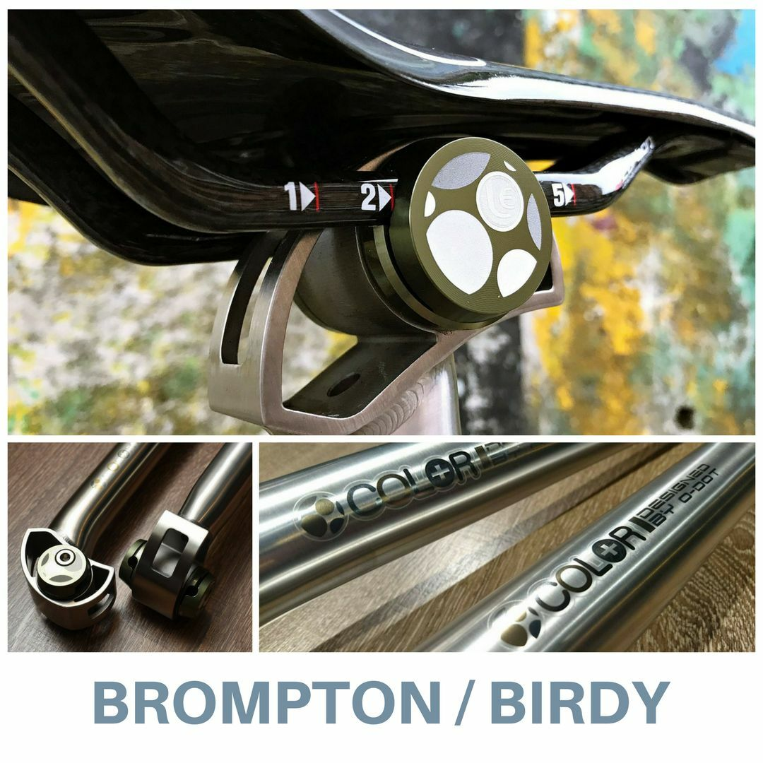 Brompton de Birdy Premium tija de Brompton Sillín Titanio (Colorplus) 3e44dc