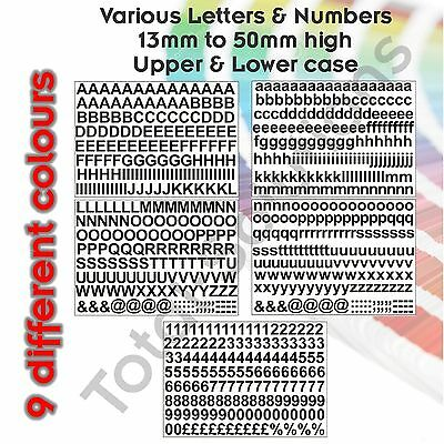 13mm Sticky Self Adhesive Vinyl Letters and Numbers Just Peel /& Stick