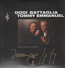 """DODI BATTAGLIA  TOMMY EMMANUEL - LP PLETTRO E AUTOGRAFO """" DOV'E' ANDATA ... """""""