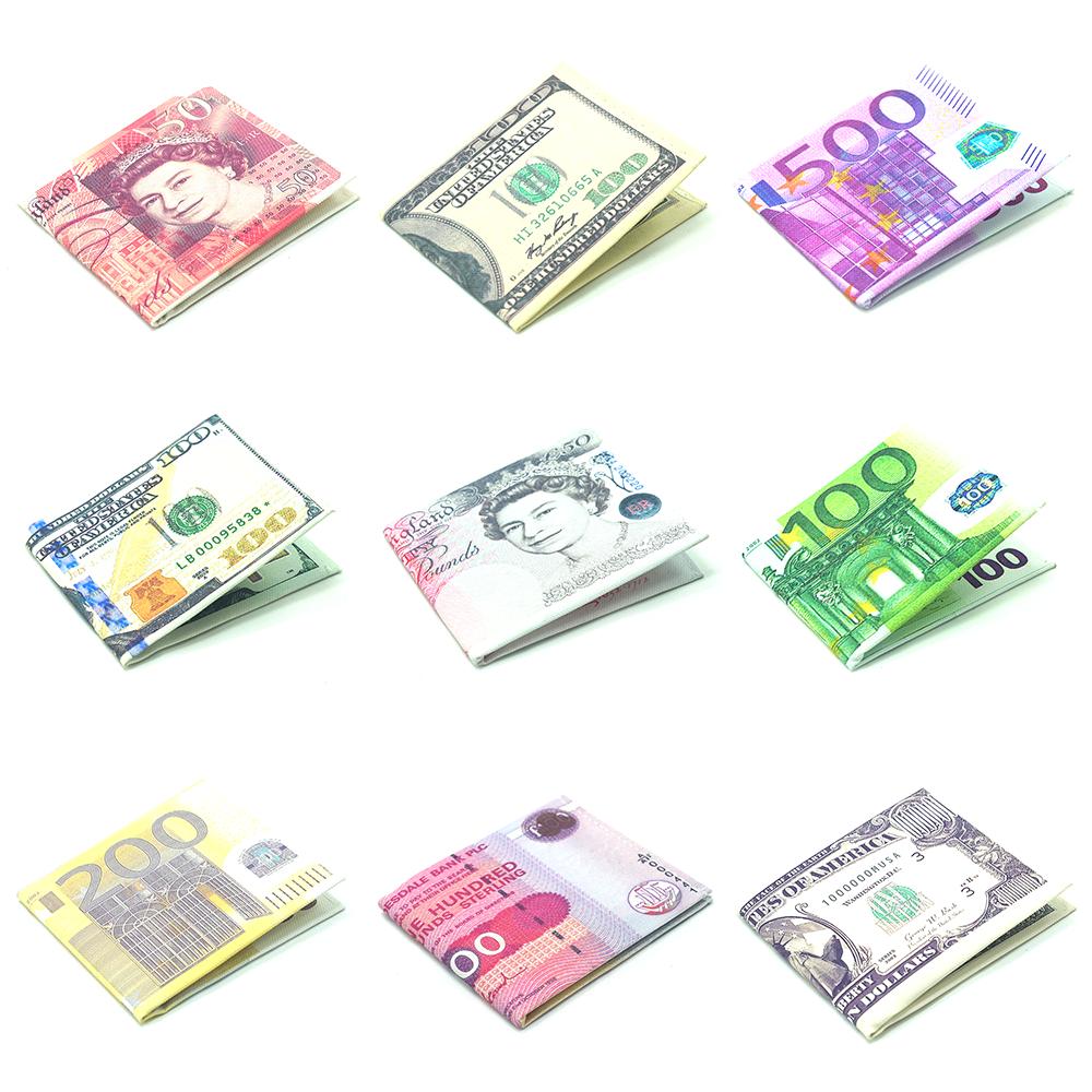 Slim Novelty Canvas Banknote Print Style Money Wallets
