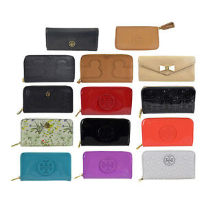 NWT-Tory-Burch-Large-Zip-Around-Envelope-Continental-Wallet-Pick-a-design