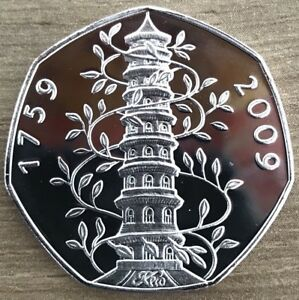 Kew Gardens 50p Coin 2009 Souvenir Coin Uncirculated Very Rare And Collectable