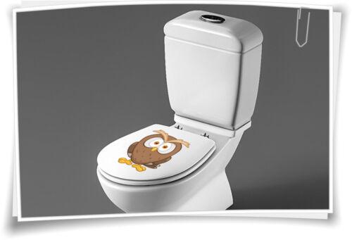 Sitzplatz WC Deckel Sticker Aufkleber Bad Toilette Eule