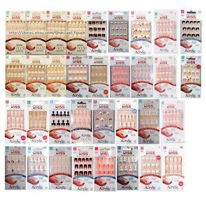 KISS-28pc-Nail-Set-SALON-ACRYLIC-No-Chip-Nails-FRENCH-NATURAL-New-YOU-CHOOSE