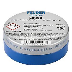 FELDER-Loetfett-Loetmittel-Solder-Paste-Loet-Fett-Loetpaste-Dose-VPE-50g