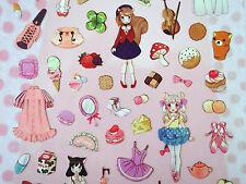 Kawaii girl stickers! Cute Japanese lolita fashion anime girls clothing, mermaid