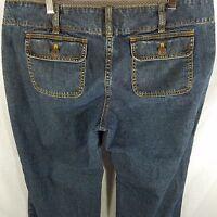 Michael Kors Jeans 10P Trouser Wide Leg Stretch Dark Wash