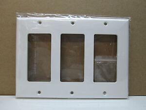 Premier Three 3 Gang Decorator Rocker Light Switch Cover Wall Plate