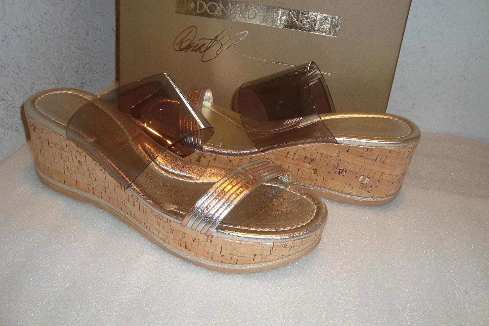Donald J Pliner Womens NWB Sabrina M095 pinkgold Vinyl Sandals SZ 9.5 MED NEW