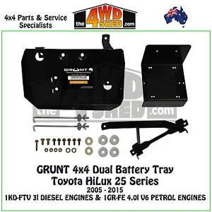 Grunt-4x4-Dual-Battery-Tray-fit-Toyota-HiLux-25-Series-2005-2015-Petrol-Diesel