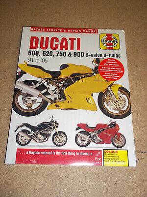 Haynes Workshop Manual Ducati 600 620 750 900 2-Valve V-Twin New Service Repair