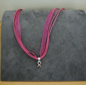 Necklace pendant Pink Breast Cancer Awareness  New and Beautiful!