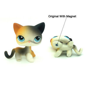 Littlest Pet Shop Cat Rare Short Hair Kitty Lps Toys 106 With Yellow Black Ears Ebay