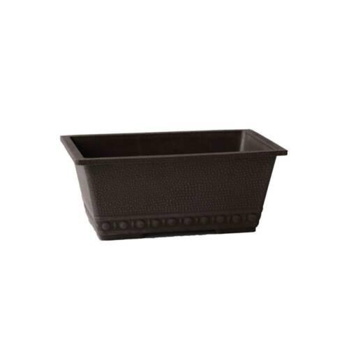 "13x9x5.5/"" Chocolate Window Box Beaded Texture Flowerpot Vase Garden Window Box"