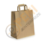 thumbnail 3 - Kraft Paper SOS Carrier Bags Brown with Flat Handles /Takeaway /Gifts Quick Post