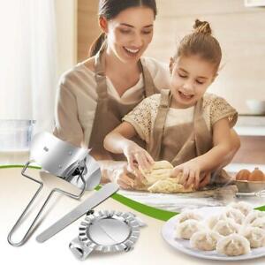 1set Dumpling Mould Maker Slicer Cutter DIY Easy Kitchen Tools Steel W0X6