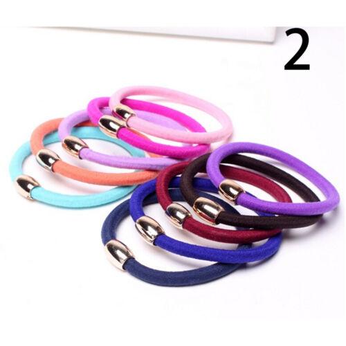 10pcs Girls Elastic Hair Ties Rubber Bands Ropes Rings Ponytail Holder  GQ FB