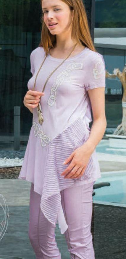 Elisa Cavaletti Kurzarm Tunika Blause T- Shirt ELP195049607  Sommer 2019