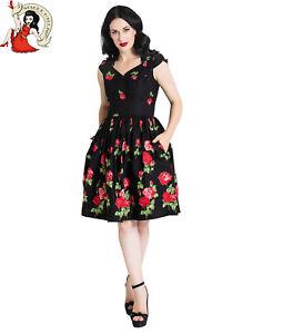 Hell Bunny Fantasia Abito nero Vintage Fashion