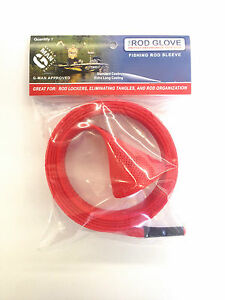 1-x-HURRICANE-VRX-STANDARD-CASTING-ROD-RED-Fish-Sock-Cover-Protector-Braid