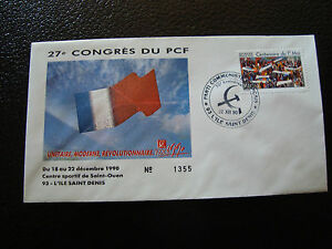 FRANCE-enveloppe-21-12-1990-27e-congres-du-PCF-cy7-french-Y