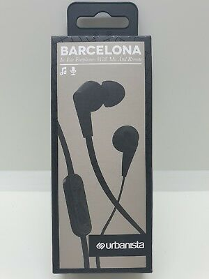 f1dac1e96b7 Details about URBANISTA Barcelona Black In-ear Headphones in line control