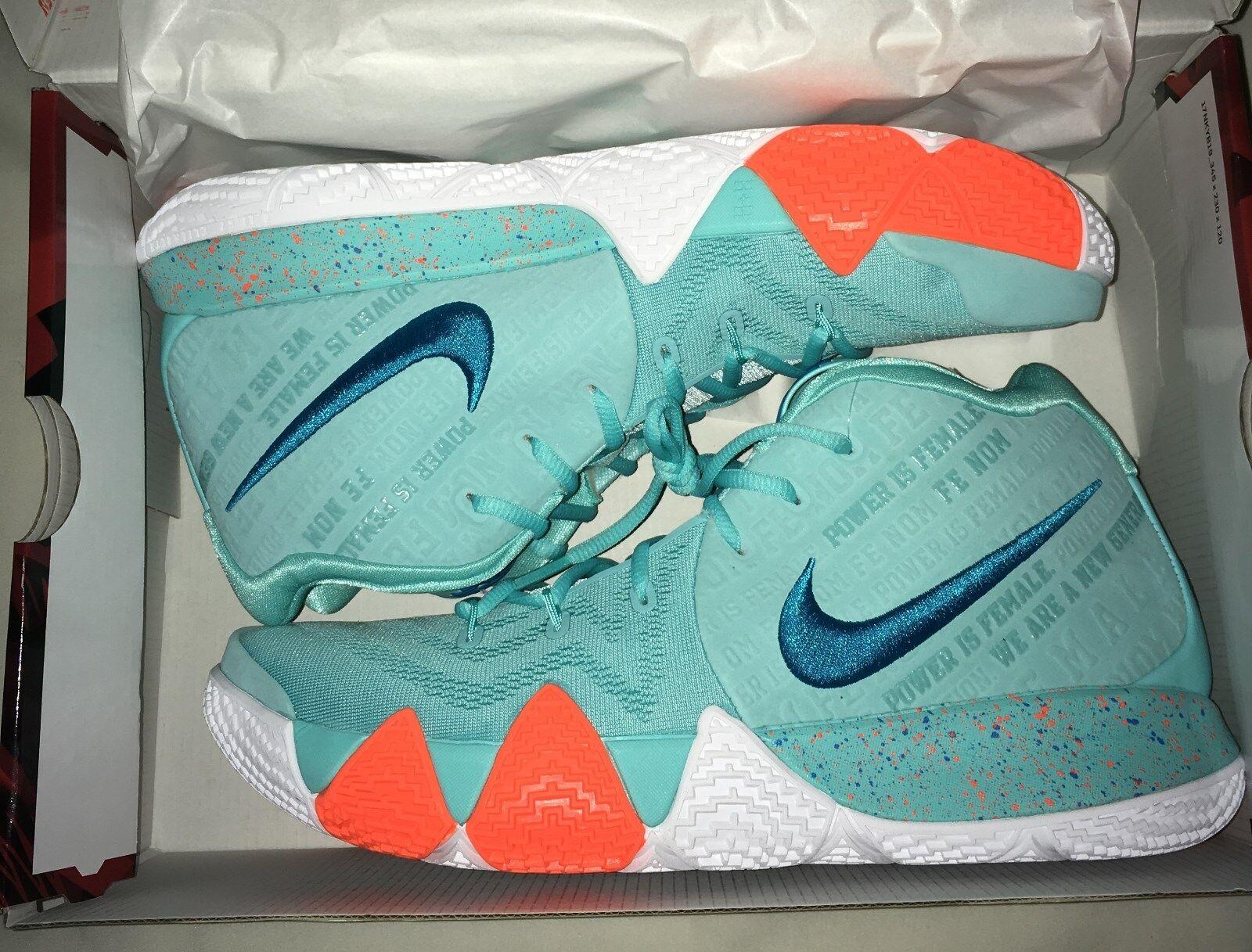 Nike Kyrie 4 IV Power is Female Light Aqua Neo Turquoise Irving Mens SIZE 12 NIB