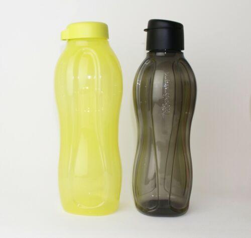 TUPPERWARE EcoEasy Trinkflasche Schraubvers.1,5L Gelb 1L Schwarz Clipverschluß