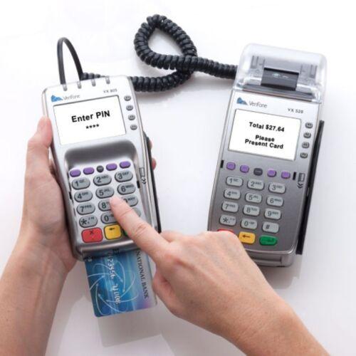 VeriFone Vx520 EMV and Vx805 PIN Pad with Carton 500 Encryption Key