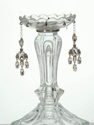 Boucles d/'Oreilles Clous Chandelier Cristal Retro Ancien Vintage Mariage QD4