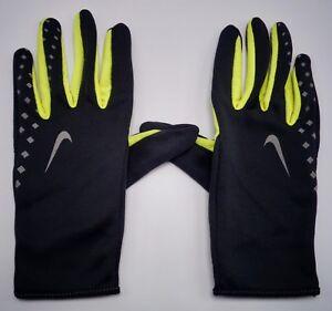Nike Femme Léger Run Gants Gris/jaune / Argent Taille M
