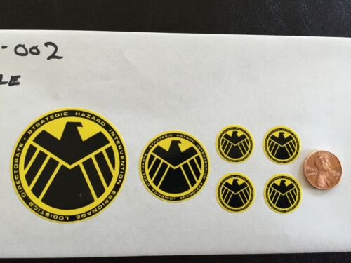 livraison gratuite Marvel Agents of Shield Custom decals 1//6 Scale 002 jaune