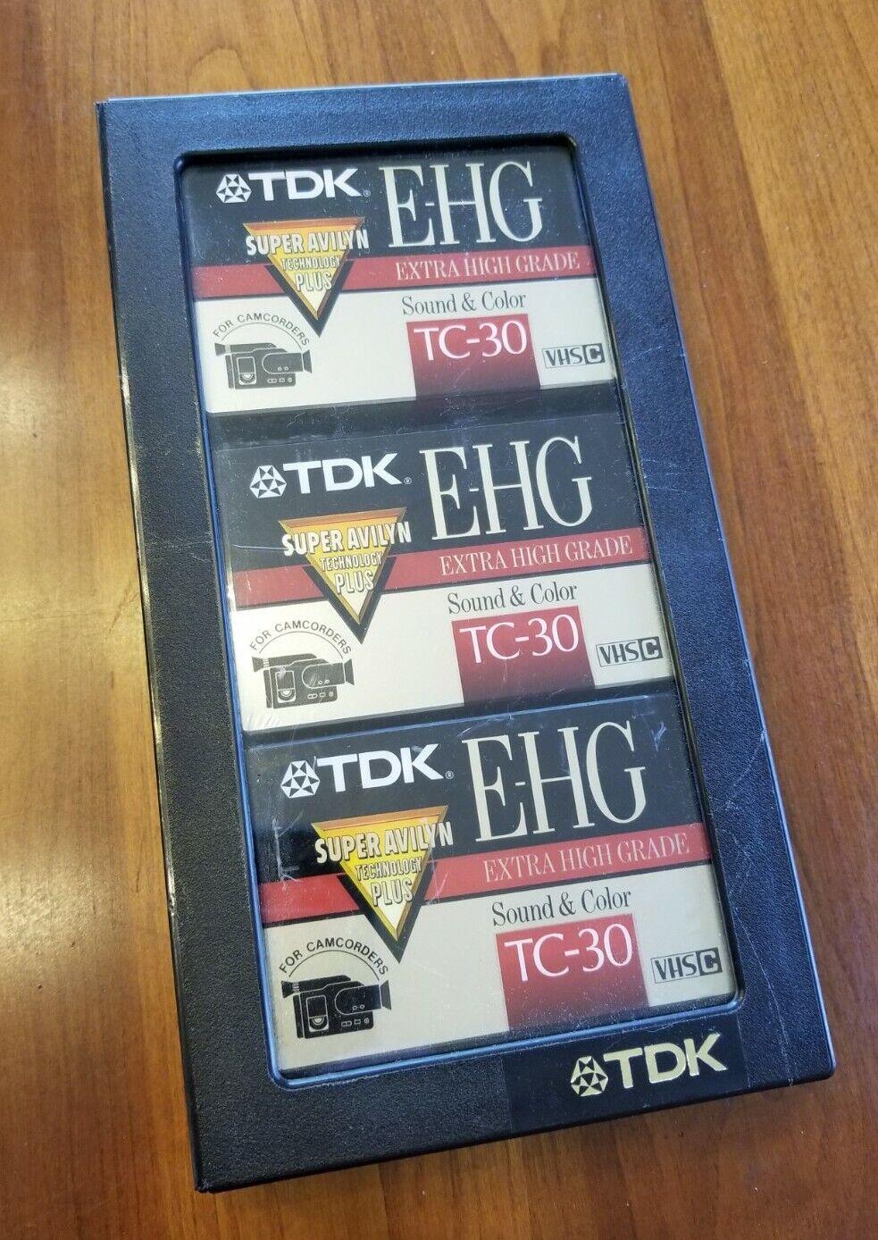 TDK TC-30 EHG VHS-C VIDEOCASSETTE NEW 3 pcs VIDEO TAPE VHSC EXTRA HIGH GRADE