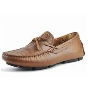 Chaussures mocassins en cuir véritable pour hommes faits à la main