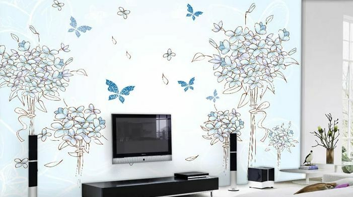 3D Art flowers 186 WallPaper Murals Wall Print Decal Wall Deco AJ WALLPAPER