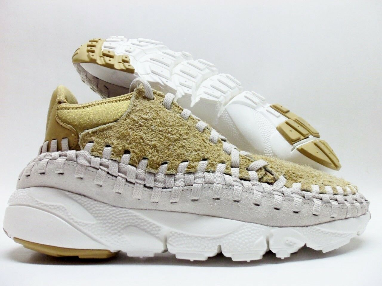 Nike air footscape tessuti ohukka qs appartamento oro / orewood dimensioni uomini 11 [913929-700]