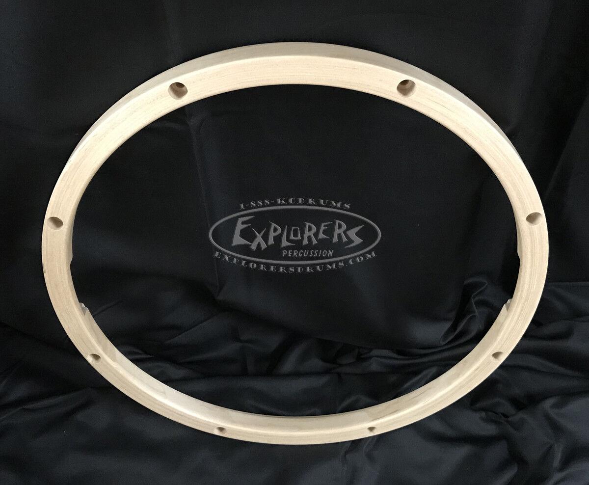 Wood Drum Hoop 14  8 Lug 24 ply Snare Side Wood Rim - THM148HS