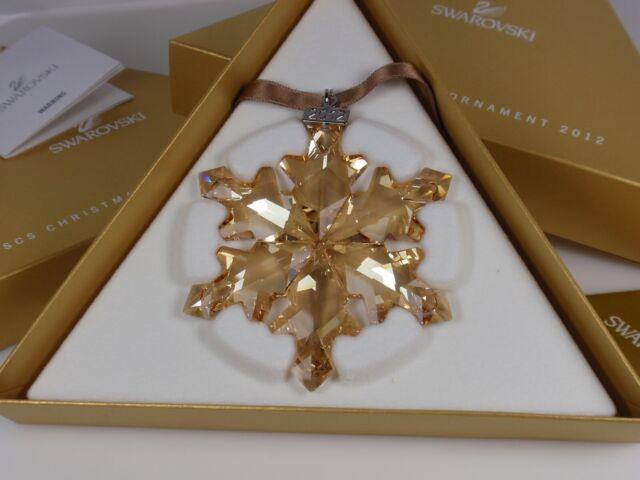 SWAROVSKI SCS GOLD CHRISTMAS ORNAMENT 2012 MIB #1139970 | eBay